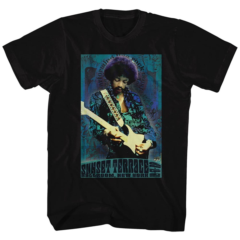 Jimi Hendrix - Mens Sunset Terrace T-Shirt