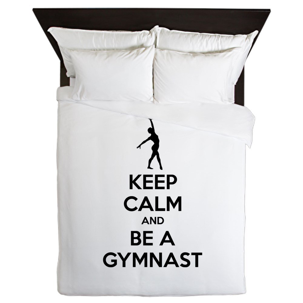 CafePress - Keep Calm And Be A Gymnast - Queen Duvet Cover, Printed Comforter Cover, Unique Bedding, Microfiber