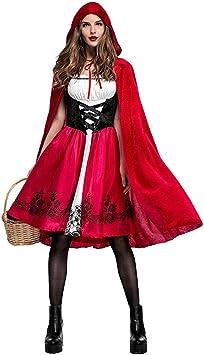 aimdonr Caperucita Roja, halloween Cosplay Disfraz, vestido de ...