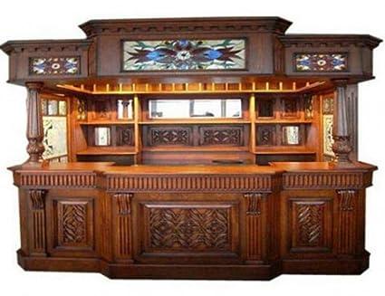 Irish Fitzpatrick Solid Mahogany Tavern Home Pub Ireland Bar with Tiffany Glass Canopy  sc 1 st  Amazon.com & Amazon.com: Irish Fitzpatrick Solid Mahogany Tavern Home Pub ...