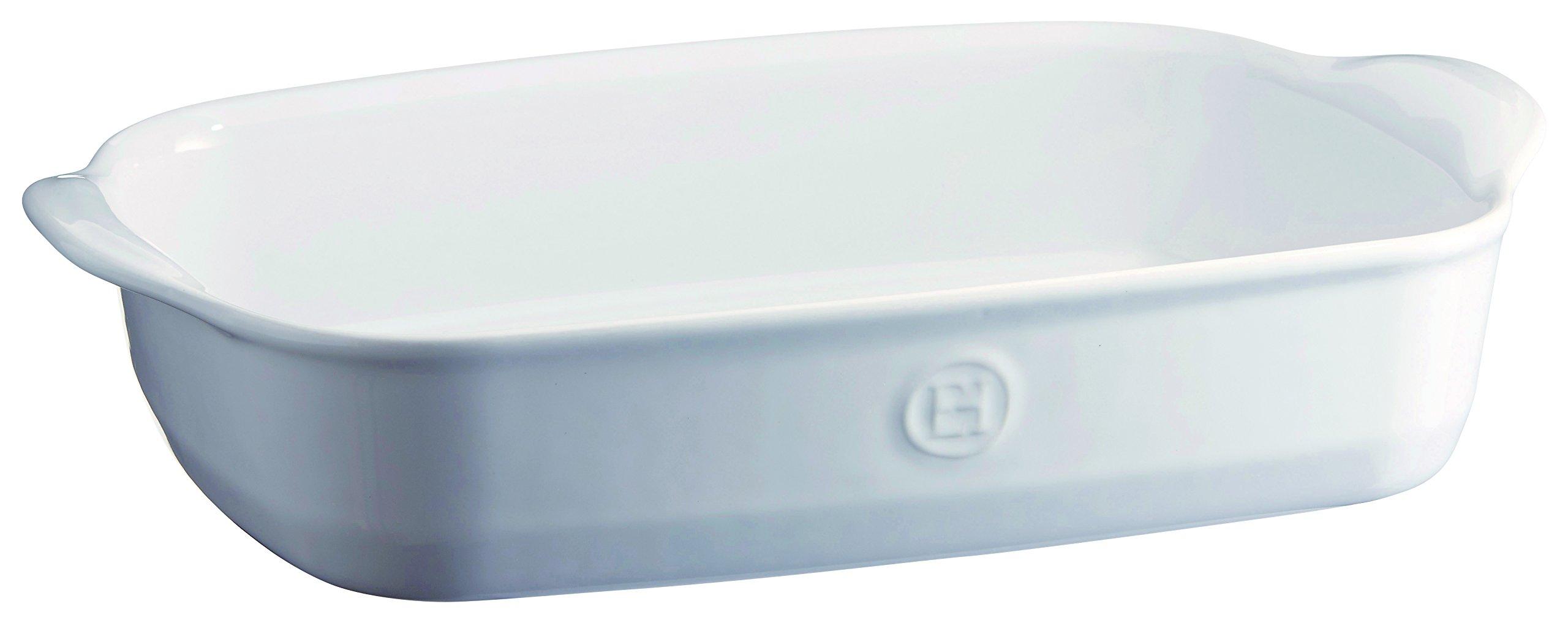 Emile Henry 119652 France Ovenware Ultime Rectangular Baking Dish, 14.2 x 9.1, Flour White by Emile Henry