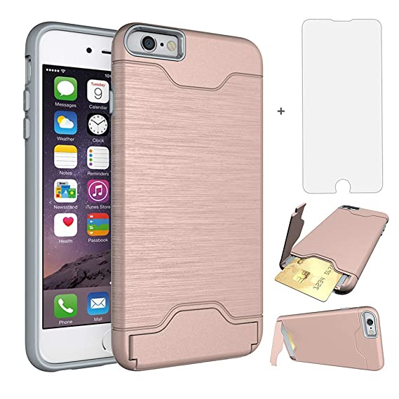 Aswusih iPhone 6 6s plus Case i Phone Cases Women Girls with Tempered Glass  Screen Protector 5ee45bc1e3