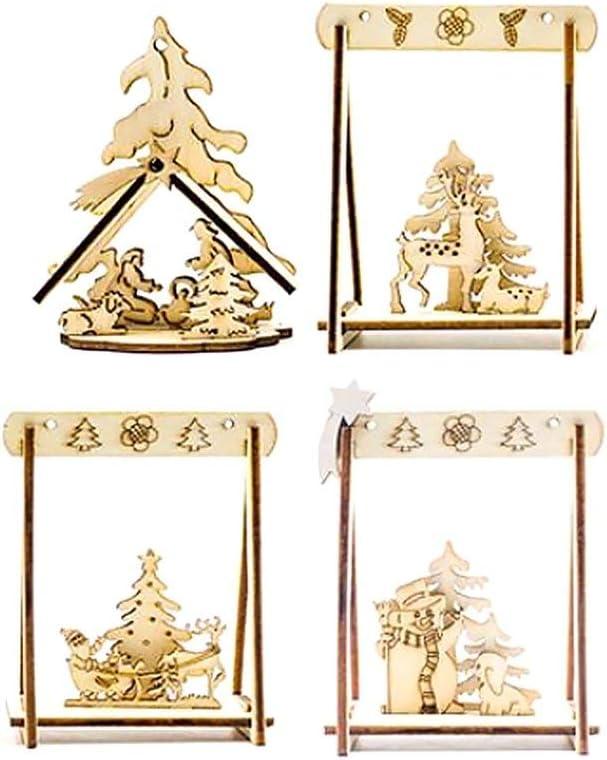 Jessicadaphne No/ël cr/éatif Bureau en Trois Dimensions Creuse d/écoration de no/ël Petits Ornements