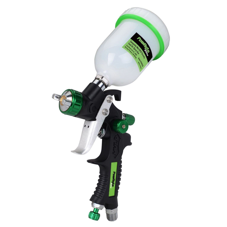 PowRyte Elite 4.2 Oz Composite Mini HVLP Gravity Feed Air Spray Gun - 0.8mm Nozzle
