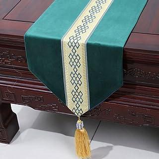 KKY-ENTER verde moderno semplice Runner Soggiorno Tovaglia Tavolino Tovaglia Mat Bed Flag (solo la vendita Runner) 33 * 230 centimetri
