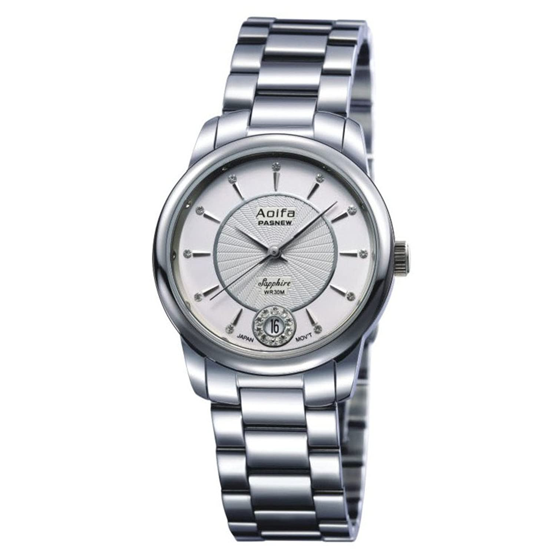 Damen Mode Saphir wasserdichte Armbanduhr-A