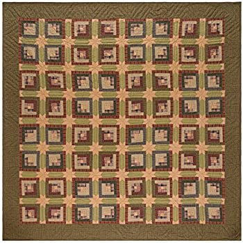 VHC Brands Rustic & Lodge Bedding - Tea Cabin Green Quilt, King