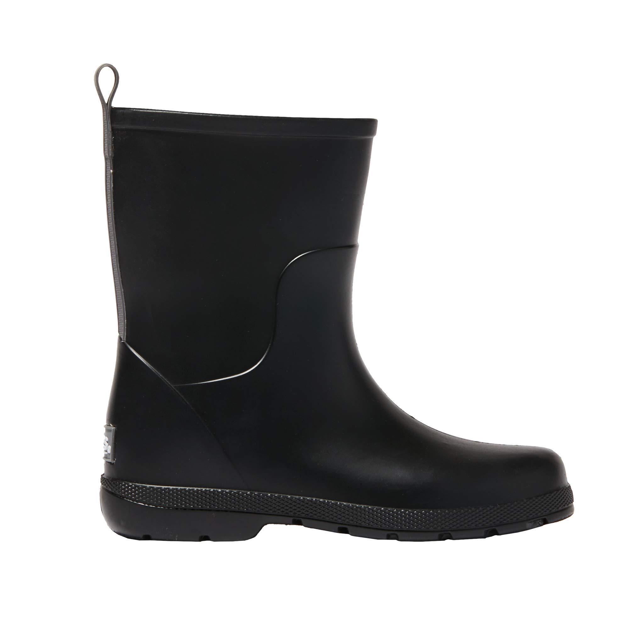 totes Kid's Cirrus Charley Tall Rain Boot Black