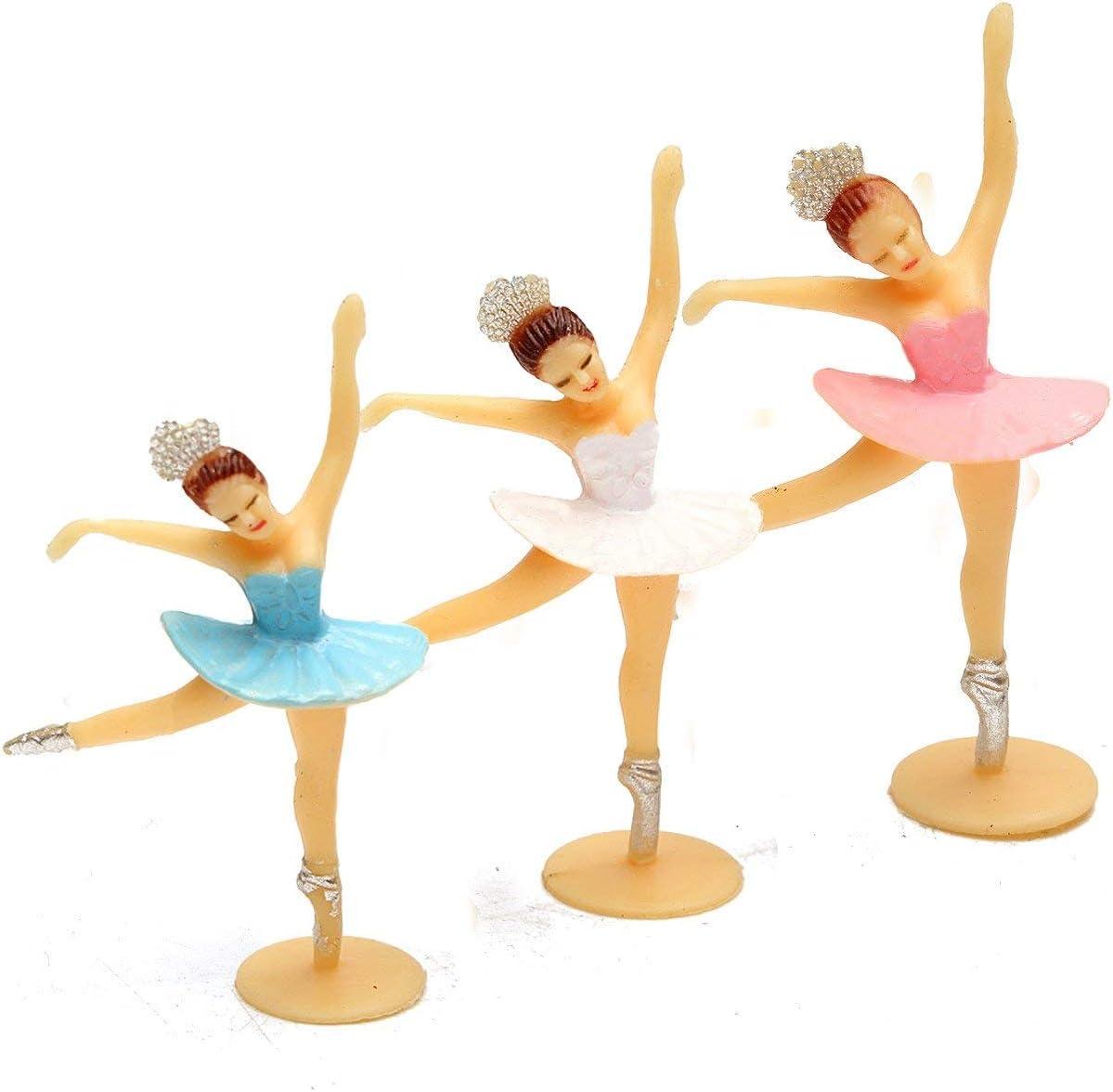 Uteruik Decoraciones - Bailarina Rosa decoración bebé Regalos Baby Shower Favors Dancing Party Mini Girl - 12 Pieza