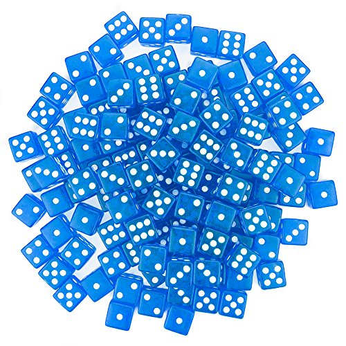 Brybelly 100 Dice, 16mm, Blue ()