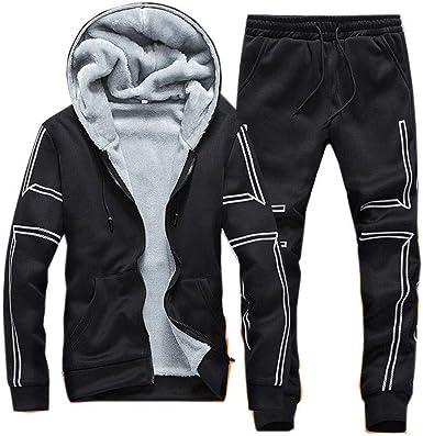 ALLAK Mens Full Zip Tracksuit Set Casual Jogging Athletic Sweat Suits