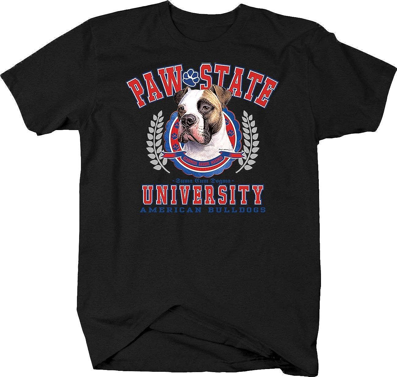 Long Sleeve White T Shirt  M-3X Basset Hound Dog Paw State University Short