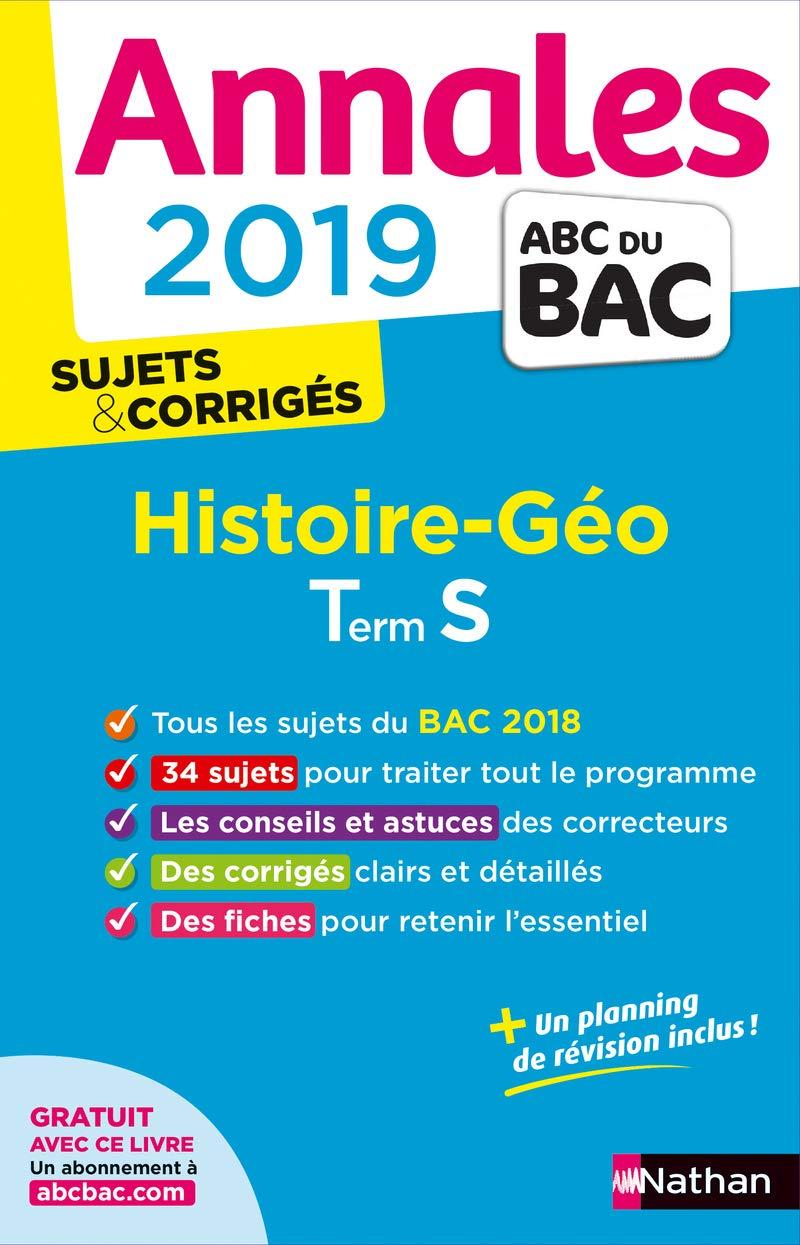 Histoire-Géographie Tle S : Sujets & corrigés (French) Paperback – August 10, 2018