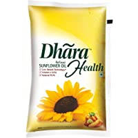 Dhara Health Refined Sunflower Oil Pouch, 1L