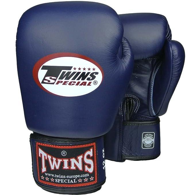 Leder MMA blau Muay Thai Leather Boxing Gloves Twins Boxhandschuhe