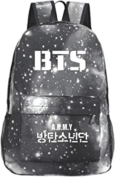 informal con texto ARMY para ni/ños Mochila de lona FaLaidi de la banda de Kpop BTS-BT21 BTS estampada