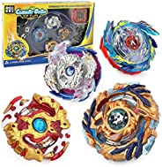 ROKK NOW Bey Battle Burst Gyro Attack Blades Metal Fusion Evolution Combination with Starter Battle Arena, Lau