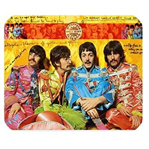 Mystic Zone Personalized The Beatles Rectangle Mouse Pad (Black)