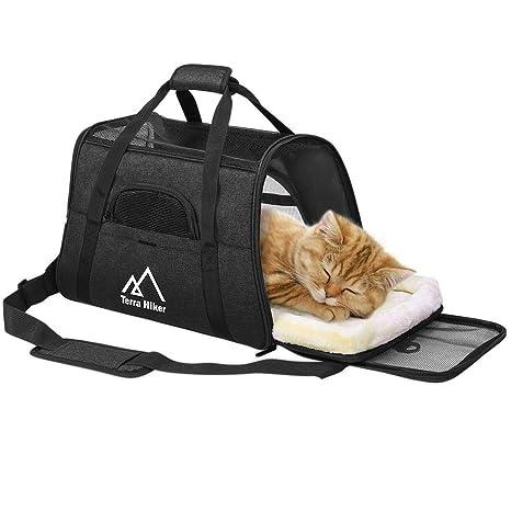 Terra Hiker Bolsa de Transporte para Perros/Gatos, Dimensiones de ensanchamiento, 45 cm