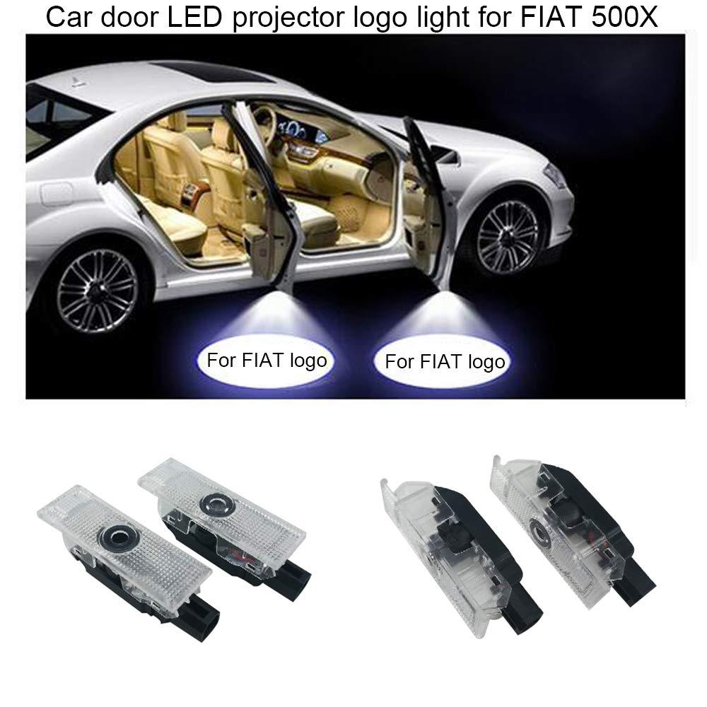 2 luces LED de cortes/ía para puerta de coche con logo de fantasma para 500X