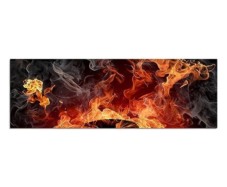 Imágenes cuadro - Impresión (120 x 40 cm Tocadiscos Fuego ...