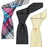 FlipMyTie Reversible Men's Necktie 3-Pack Blue/Black