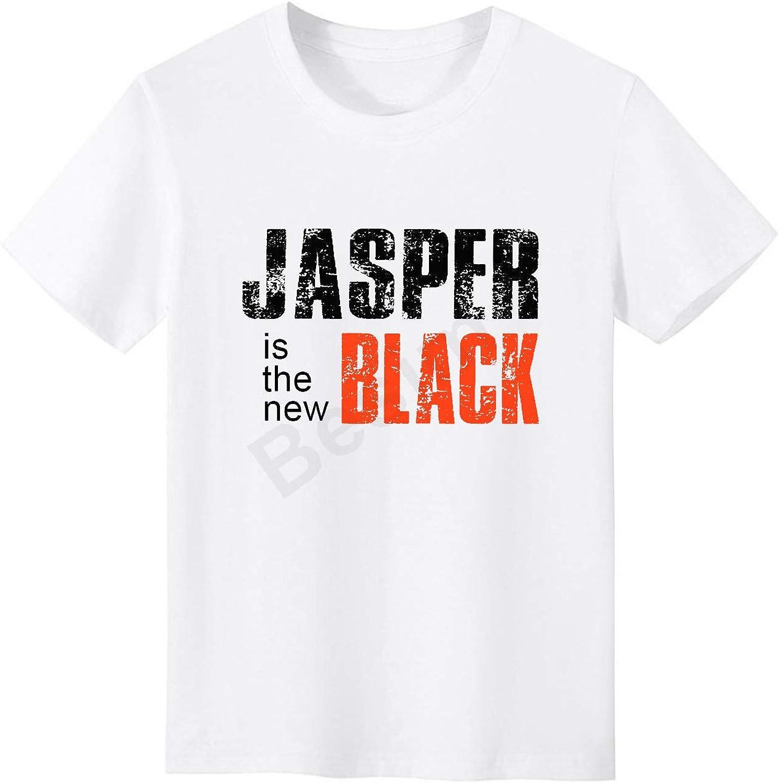 Besim Jasper es la nueva camiseta negra 100% algodón unisex para hombre divertido humor Tee Blanco blanco M: Amazon.es: Ropa y accesorios