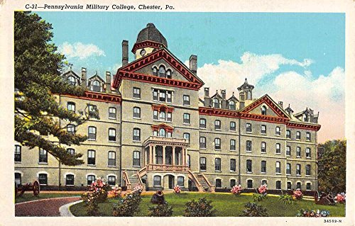 Chester Pennsylvania Military College Street View Antique Postcard K58251