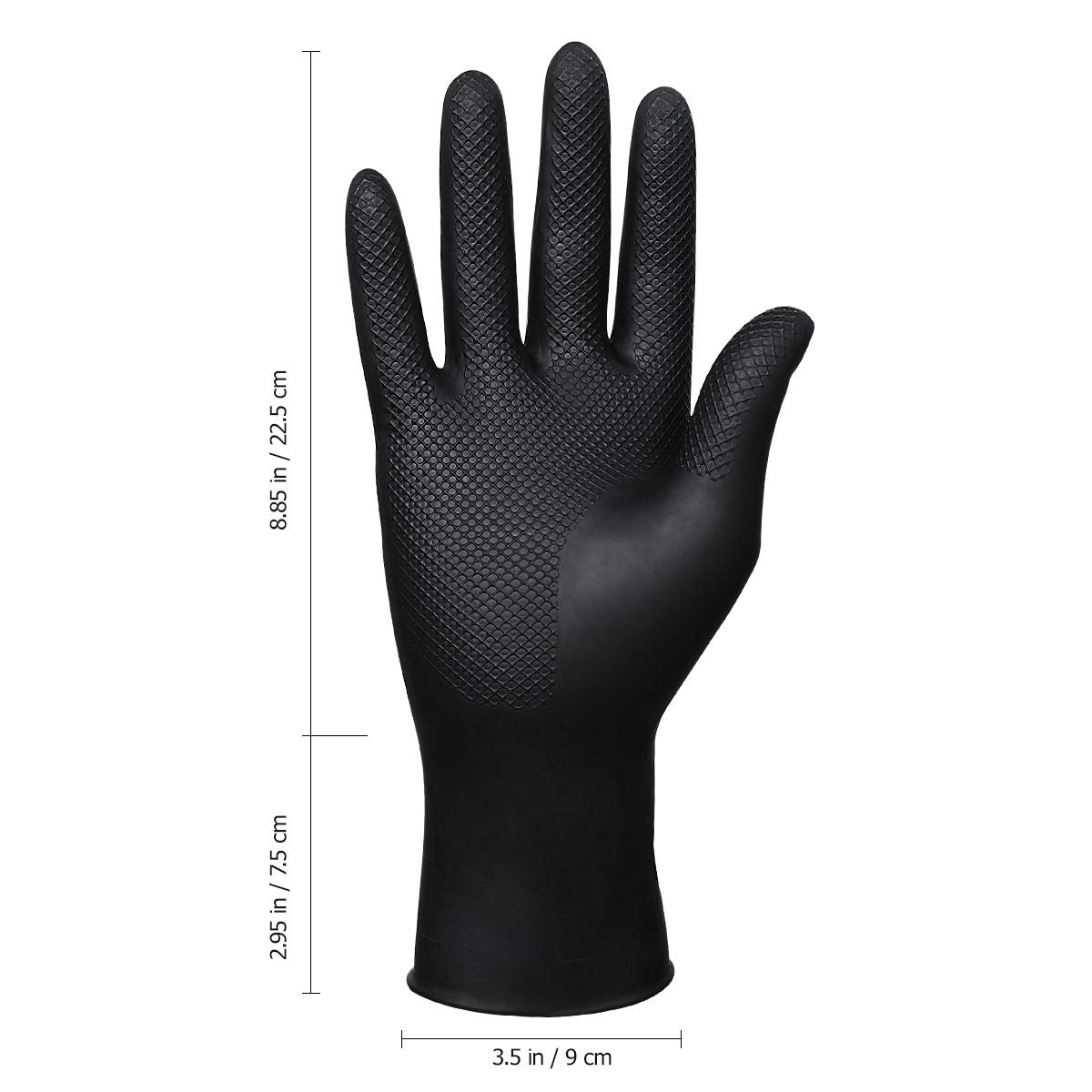 Hair Dye Gloves Black Reusable Rubber Gloves Hair Coloring Accessories for Hair Salon Hair Dyeing 10Pcs