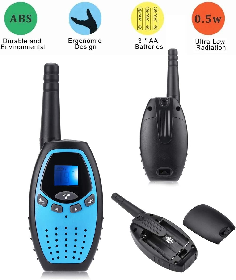 3 Packs 22 Channels 2 Way Radio Long Range Interphone Toys for Boy and Girls Age 3 6 7 8 9 12 Up for Outdoor Adventures Camping Hiking Fistone Walkie Talkies for Kids
