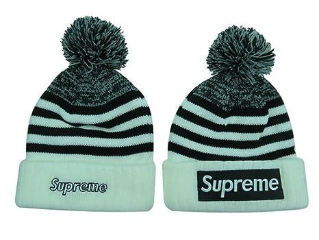 Supreme Beanie Sombreros/gorros (Blanco con logo de color blanco ...