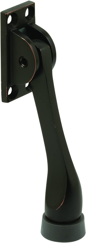 Prime-Line J 4899 Kick-Down Door Stop 4 in Classic Bronze Finish Pack of 1