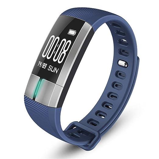 Reloj Inteligente Xinan Reloj Inteligente G20 Bluetooth Presión Arterial ECG Fecha Pulsera del Monitor de frecuencia cardíaca (❤️Azúl): Amazon.es: Relojes