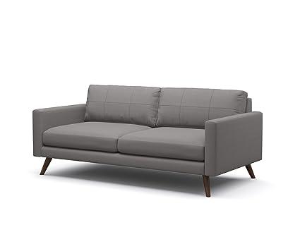 amazon com truemodern dane condo sofa with fabric espresso finish rh amazon com