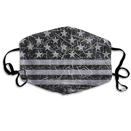 Amazon com: Retro Distressed USA Flag Patriotic Breathe Healthy Face