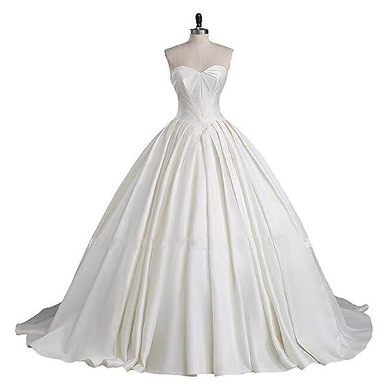 Satin Princess Wedding Dresses