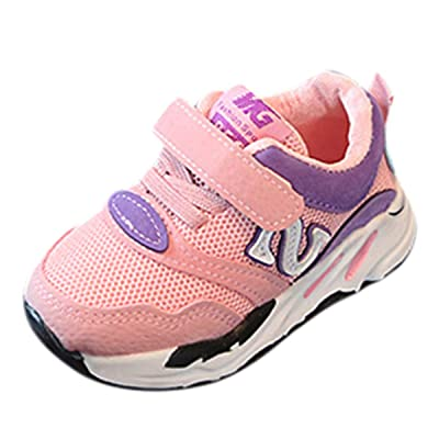 KONFA Toddler Infant Baby Boys Girls Breathable Running Sneakers,for 0-24 Months,Kids Fashion Hook&Loop Sport Boots: Clothing