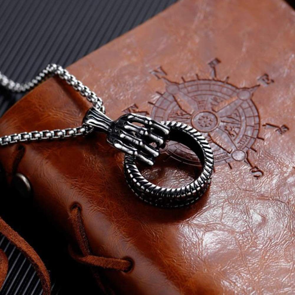 LTLWL Hip hop Hand Necklace Send Boyfriend Titanium Steel Mens Pendant
