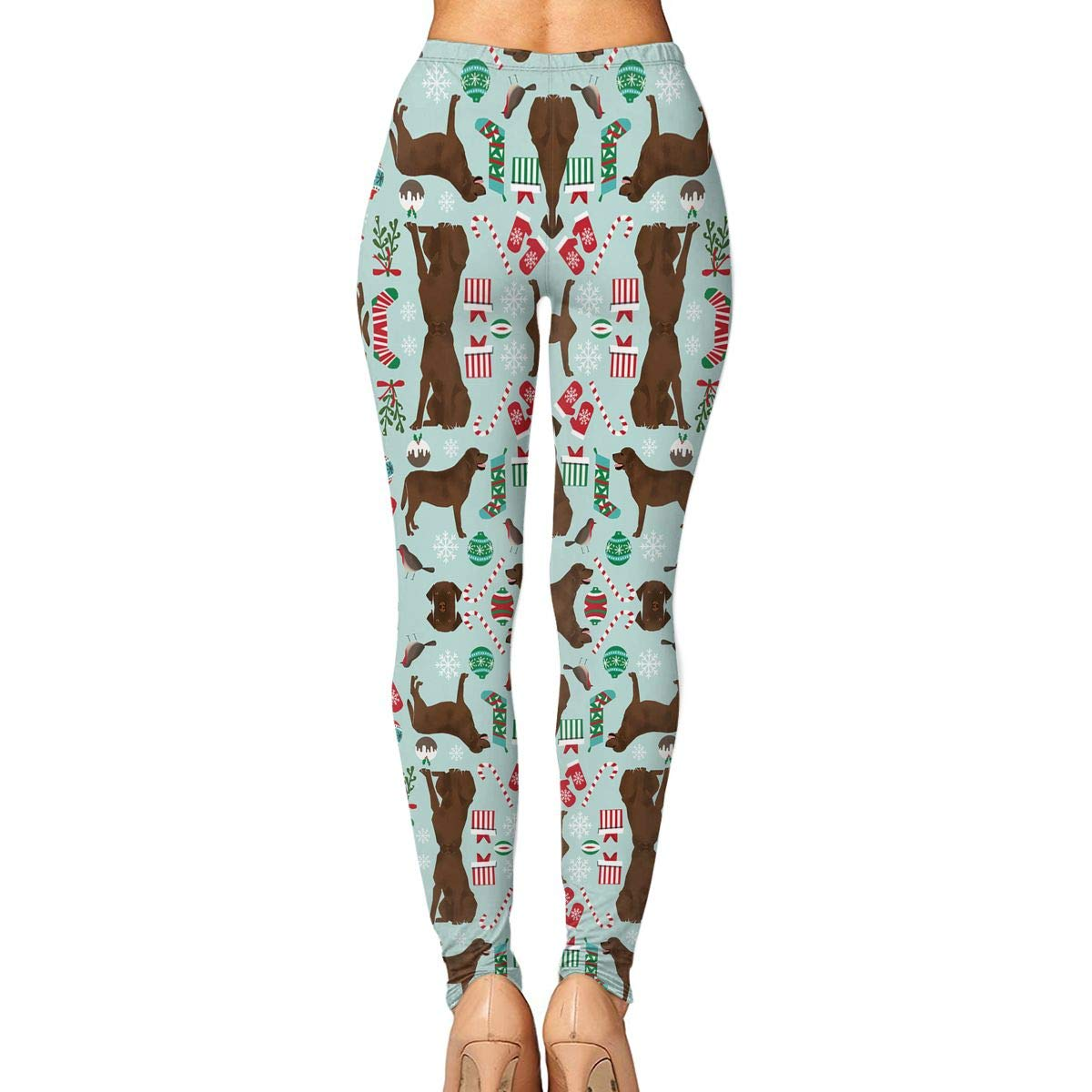 Amazon.com: KOPTZA Chocolate Lab Christmas Womens Yoga ...