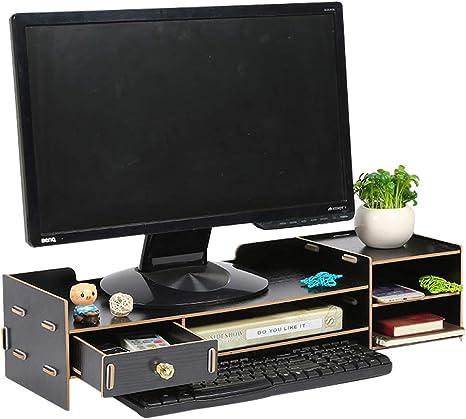 Dytiying - Soporte de madera ajustable para monitor de ordenador ...