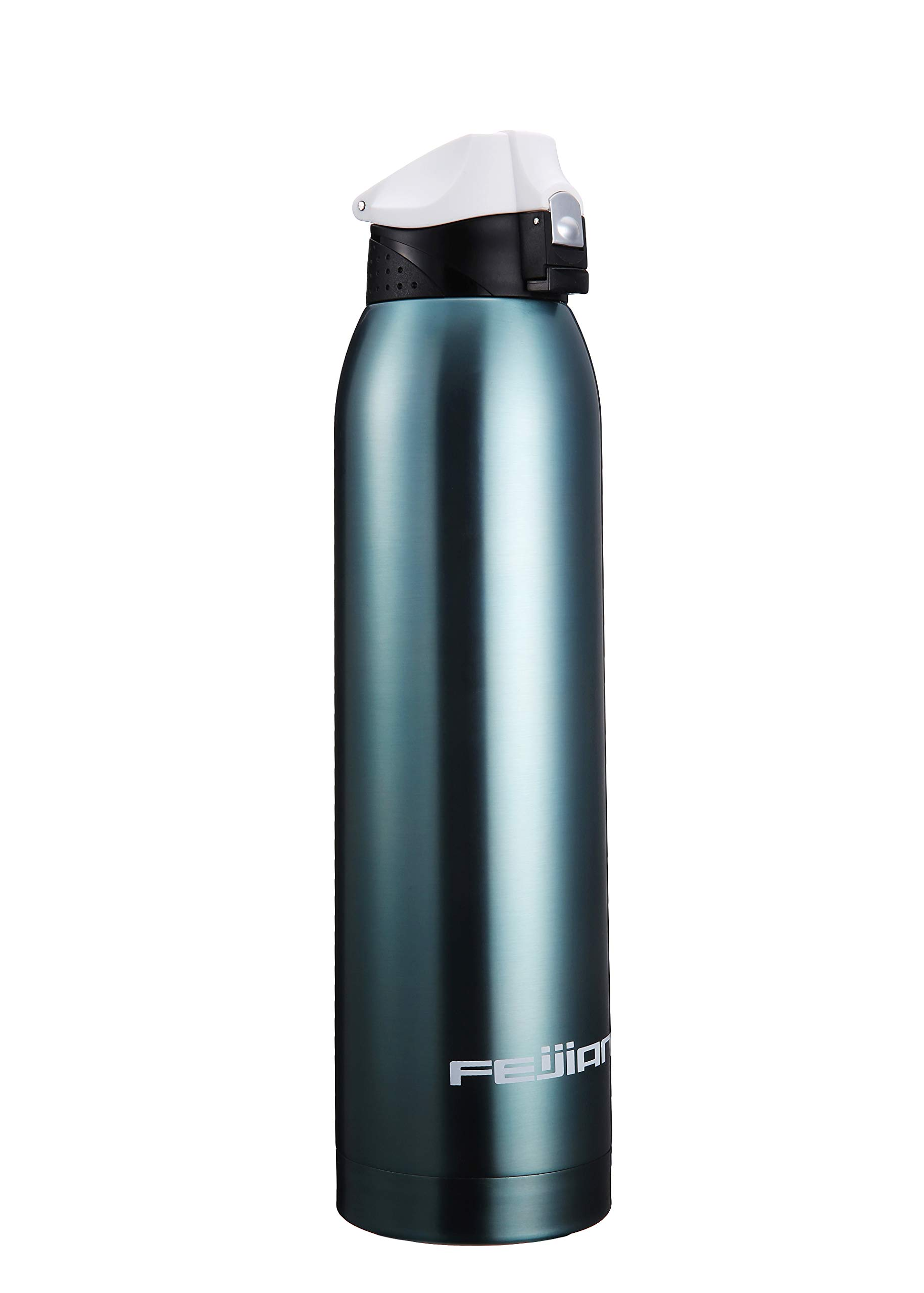 Stainless Steel Insulated Water Bottle - 52 OZ FEIJIAN (2018 New Arrival) Double Walled Vacuum Insulated 1.5 Liter Water Bottle Blue With Potarble Bag