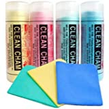 Auto Hub Ultra Absorbent Cleaning Chamois Cloths - Big Size(Assorted) - Pack of 4