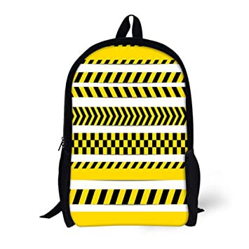 f95131905103 Amazon.com | Pinbeam Backpack Travel Daypack Construction Yellow ...