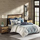 Ink+Ivy Nova Full/Queen Size Bed Comforter Set - Ivory, Blue, Geometric – 3 Pieces Bedding Sets – 100% Cotton Bedroom Comforters
