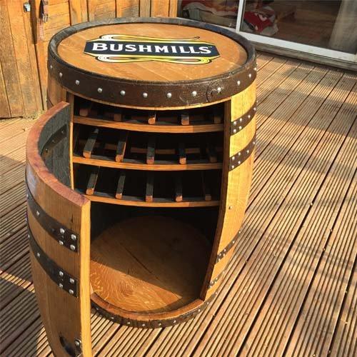solid-oak-whisky-barrel-bushmills-balmoral-drinks-wine-rack