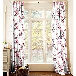 Carousel Designs Cherry Blossom Drape Panel 64-Inch Length Standard Lining 42-Inch Width