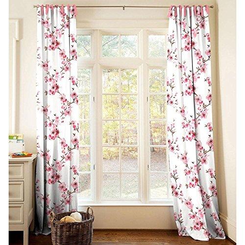 Carousel Designs Cherry Blossom Drape Panel 64-Inch Length Standard Lining 42-Inch (Blossom Drapery)