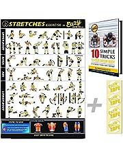 Eazy How To Stretch Banner Poster Oefening Workout GROOT 51 x 73cm Verhogen Flexibiliteit, Spier losmaken, Voorkom letsel Thuis Gym Grafiek
