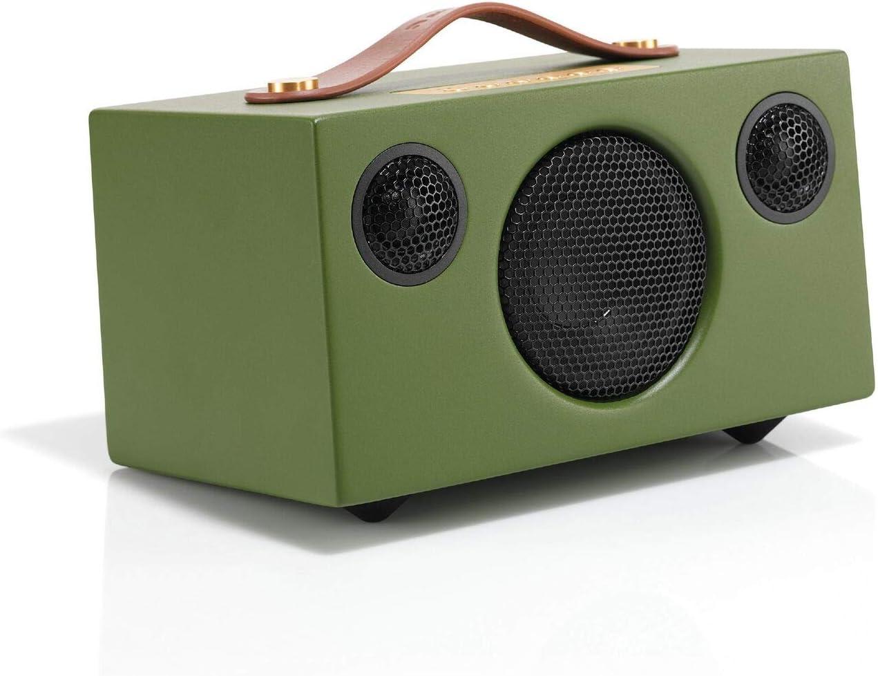 Audio Pro Addon T3 Altavoz estéreo portátil con Bluetooth (duración de la batería 30h, Carcasa de Madera Real) Color Verde