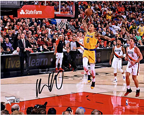 Lakers Photograph Los Angeles Autographed - Kyle Kuzma Los Angeles Lakers Autographed 8
